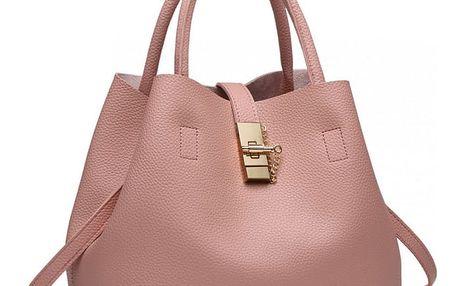 Dámská růžová kabelka Karen 1816