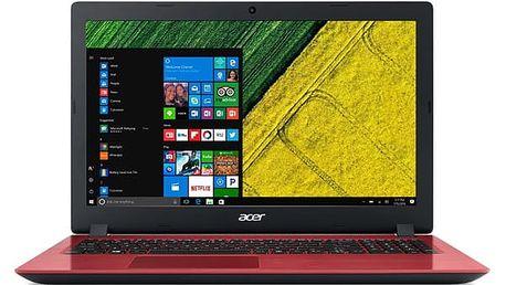 Notebook Acer Aspire 3 (A315-31-P5XY) červený + dárky (NX.GR5EC.006)