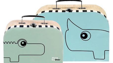 Sada 2 kufříků Suitcase, modrá