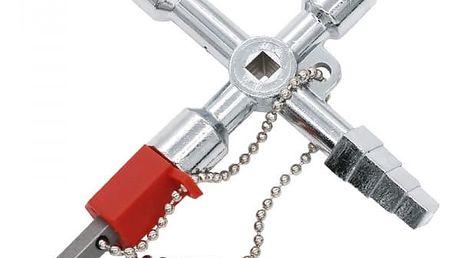 Univerzální křížový klíč k rozvodným skříním