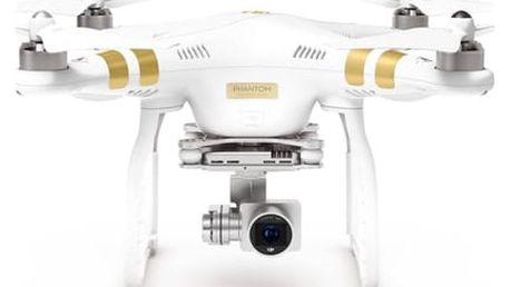Dron DJI Phantom 3 Professional, 4K Ultra HD kamera (DJI0322) bílý (DJI0322)