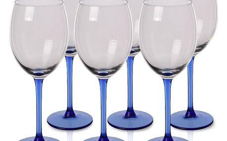 6dílná sada sklenic na víno Blue, 330 ml