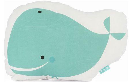 Dětský bavlněný polštářek Baleno Whale Ride, 40x30cm
