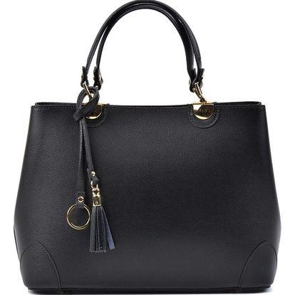 Černá kožená kabelka Isabella Rhea Munda