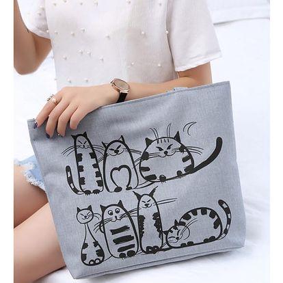 Plátěná kabelka s kočkami Catpack