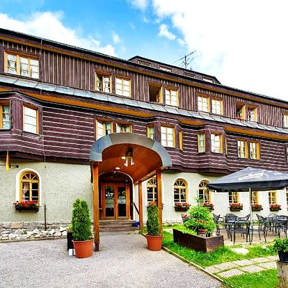 Léto v Krkonoších: Špindlerův Mlýn v blízkosti centra města v Alpském hotelu s neomezeným wellness a polopenzí