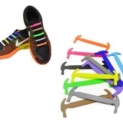 Módní silikonové tkaničky do bot 16 ks