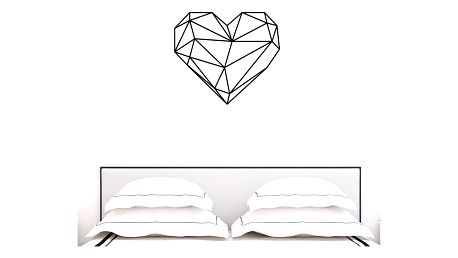 Samolepka Ambiance Origami heart