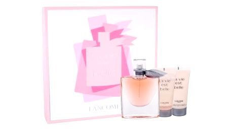 Lancome La Vie Est Belle 75 ml dárková kazeta dárková sada pro ženy parfémovaná voda 75 ml + tělové mléko 50 ml + sprchový gel 50 ml