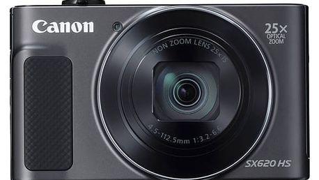Digitální fotoaparát Canon PowerShot SX620 HS černý + dárek (1072C002)