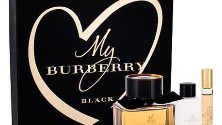 Burberry My Burberry Black parfém dárková sada W - parfém 90 ml + tělové mléko 75 ml + parfém 7,5 ml