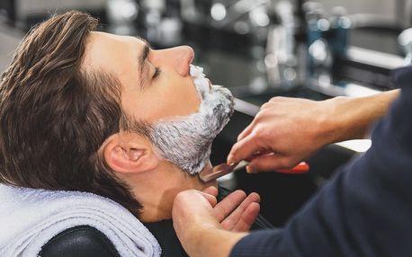 Pánský balíček střihu a holení břitvou