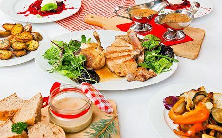 Masové menu o 3 chodech v hanácké restauraci