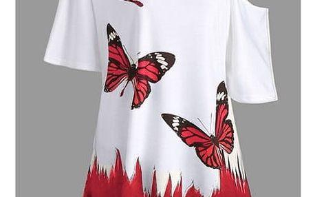 Dámské tričko s motýlky - 6 barev