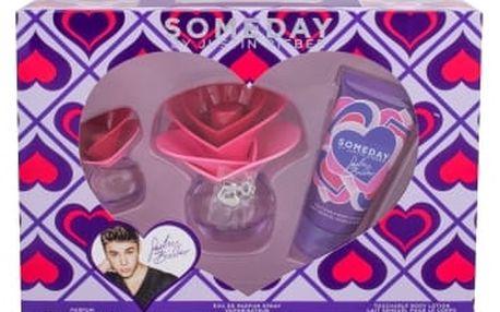 Justin Bieber Someday dárková kazeta pro ženy parfémovaná voda 30 ml + tělové mléko 50 ml + parfémovaná voda 7,4 ml