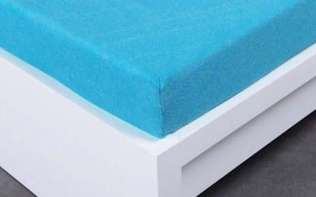 XPOSE ® Bambusové froté prostěradlo jednolůžko - modrá 90x200 cm