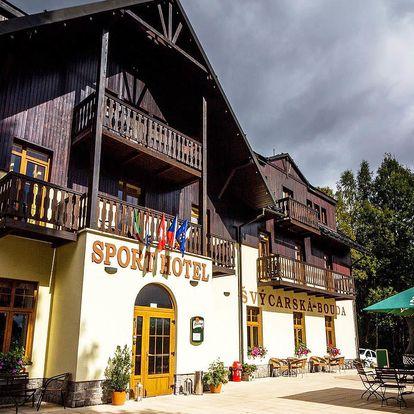 Hotel Švýcarská bouda*** ve Špindlu s privátním wellness a polopenzí