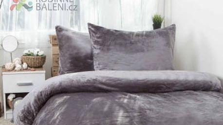 XPOSE ® Francouzské povlečení mikroplyš JORGA - tmavě šedá 200x220, 70x90