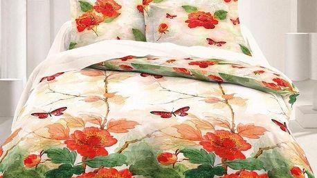 Kvalitex Saténové povlečení Luxury Collection Butterfly, 140 x 220 cm, 70 x 90 cm