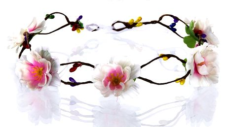 Fashion Icon Čelenka do vlasů - květinový věneček