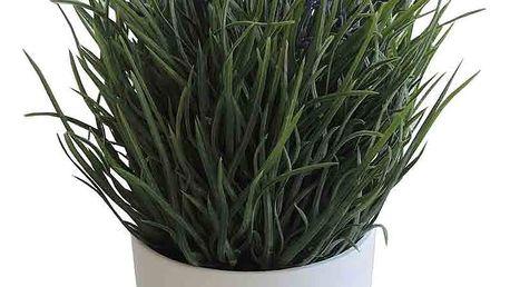 Stardeco Umělá Levandule v květináči, pr. 15 cm