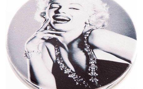 Kapesní kulaté zrcátko Marilyn Monroe kovové
