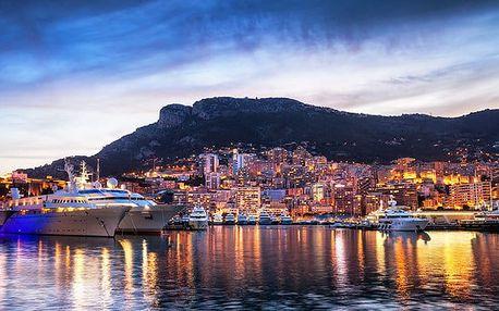 5denní poznávací zájezd se snídaní pro 1 osobu na Azurové pobřeží s Monakem i Provence