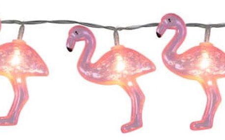 Světelný LED řetěz Best Season Go Flamingo, 10 světýlek