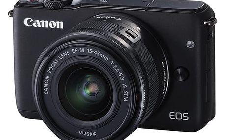Digitální fotoaparát Canon EOS M10 + 15-45mm STM černý + DOPRAVA ZDARMA