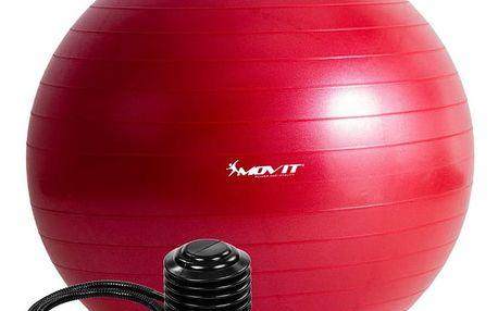 MOVIT 54106 Gymnastický míč s pumpou - 65 cm - červená