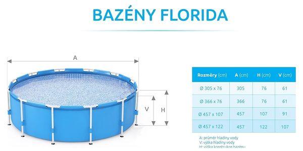 Marimex Bazén Florida Prism 3,66x0,99 m s kartušovou filtrací - 103401912