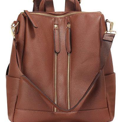 Dámský tmavě hnědý batoh Patti 523