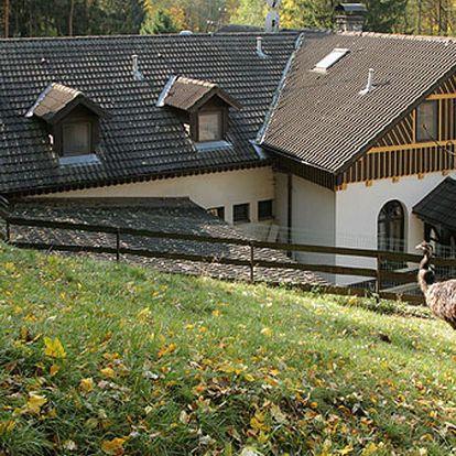 Ranč U Jelena v Moravském krasu se snídaní a půjčením kol