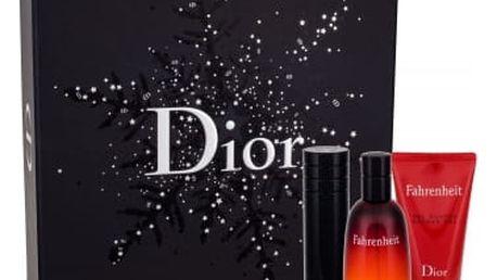 Christian Dior Fahrenheit 50 ml dárková kazeta dárková sada pro muže toaletní voda 50 ml + toaletní voda naplnitelná 10 ml + sprchový gel 50 ml
