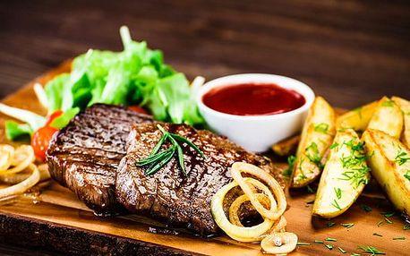 Mix grill se 4 druhy masa a přílohou pro až 4 osoby v pražském Švejk Restaurantu Strašnice
