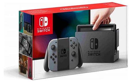 Herní konzole Nintendo Switch s Joy-Con - šedá šedá (NSH001)
