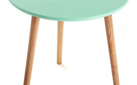 Tyrkysový odkládací stolek Versa Auxiliary, Ø50cm