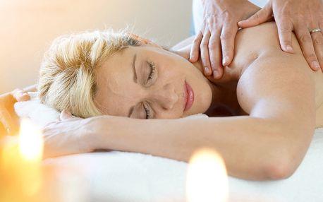 Relaxační aroma masáž zad a šíje s olejem dle výběru