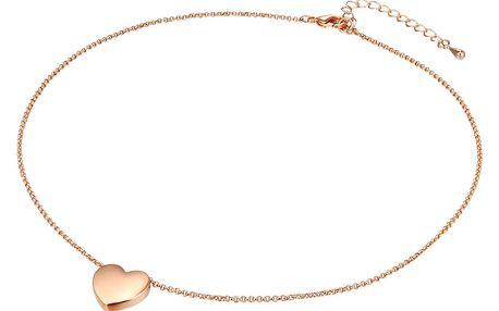 Dámský náhrdelník v barvě růžového zlata Tassioni Lily