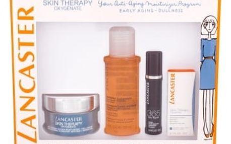 Lancaster Skin Therapy Oxygenate dárková kazeta proti vráskám pro ženy hydratační gel-krém 50 ml + péče o oční okolí 3 ml + čisticí pleťová voda 3v1 100 ml + pleťové sérum 365 Skin Repair 10 ml