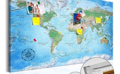 Nástěnka s mapou světa Artgeist Traditional Cartography, 90x60cm