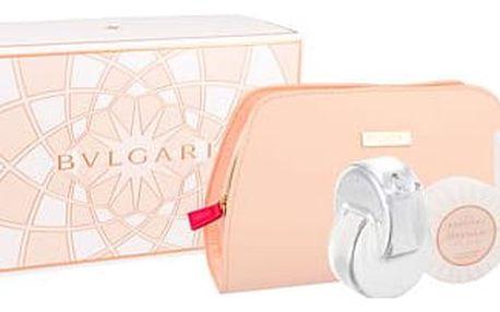 Bvlgari Omnia Crystalline EDT dárková sada W - EDT 65 ml + tělové mléko 75 ml + mýdlo 75 g + kosmetická taška