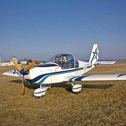 Pilotem letadla na zkoušku. Vyberte si zda poletíte ULL Skylane nebo ULL Eurostar 20 nebo 30 minut.