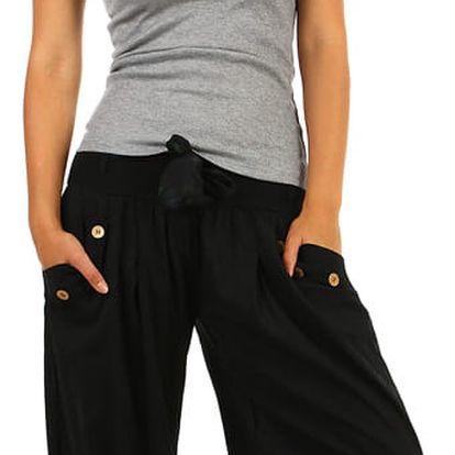 Harémové dámské kalhoty černá