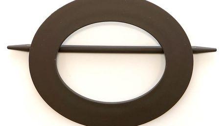 Gardinia Dekorační spona ovál s tyčkou tmavě hnědá