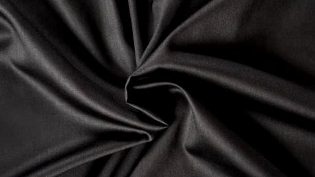 Kvalitex prostěradlo satén černé, 90 x 200 cm