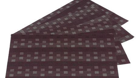 Jahu Prostírání Grid hnědá, sada 4 kusů, 30x45 cm
