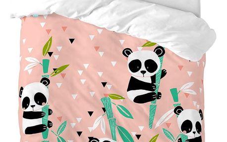 Moshi Moshi Dětské povlečení Panda Garden, 100x120 cm