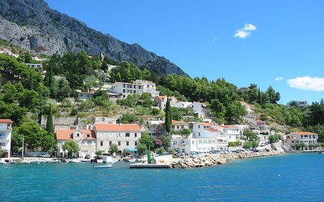 8 dní v Chorvatsku/Omiši pro 1 osobu s polopenzí 180 m od moře