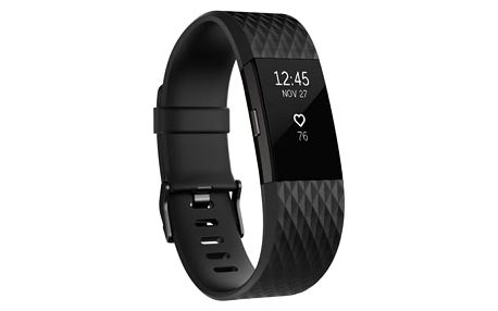 Fitness náramek Fitbit Charge 2 small - Black Gunmetal (FB407GMBKS-EU)